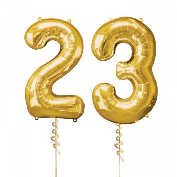 Цифры 23 с гелием